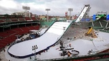 Fenway Park transformed for snowboarding