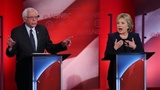 On stage and off, Clinton-Sanders...
