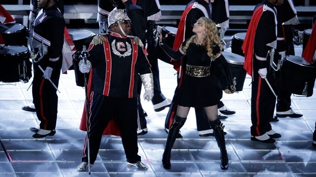 Super Bowl halftime - Madonna and Cee Lo_1817340419444474