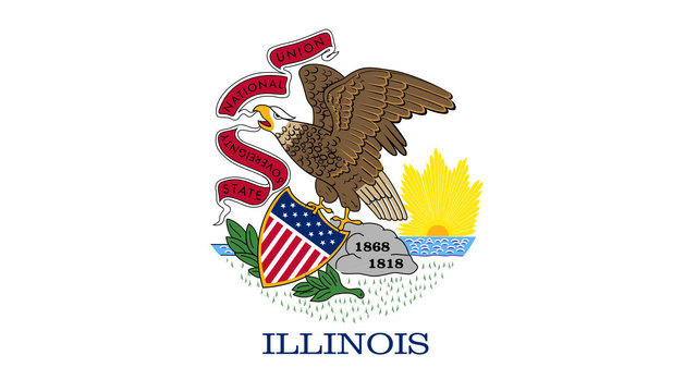 Illinois state flag06048656