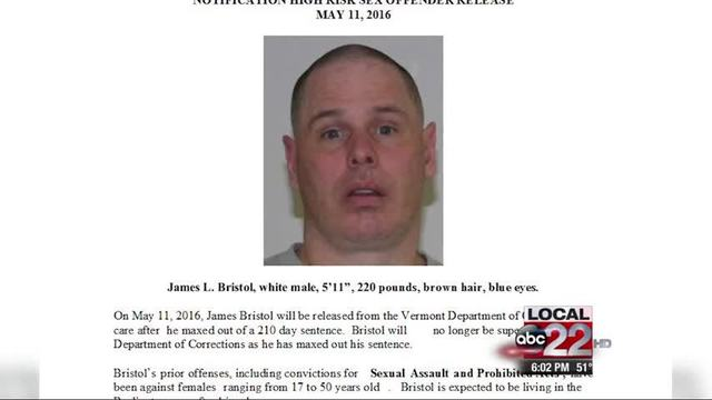 Sex offender released vermont