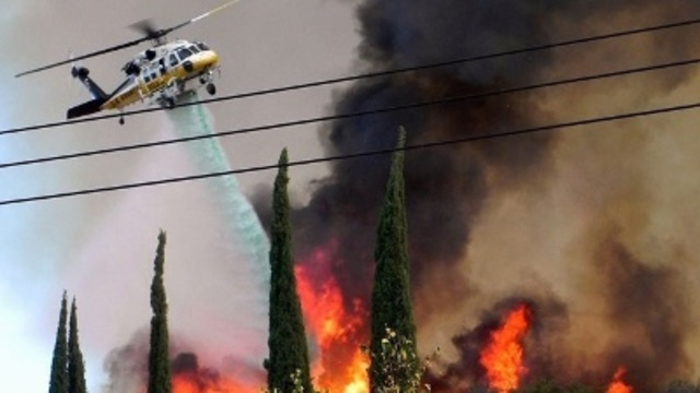 Firefighters gaining ground against California blaze