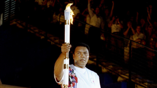Muhammad Ali with torch at 1996 Olympics69382601