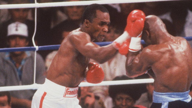 Sugar Ray Leonard, Marvin Hagler in 198790227538