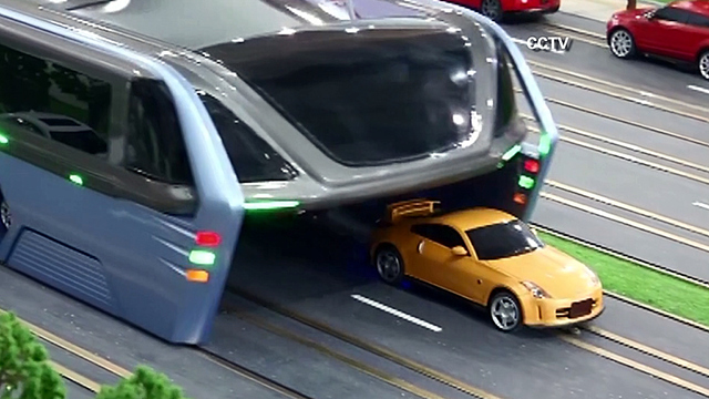 China's famous elevated bus is now a giant roadblock