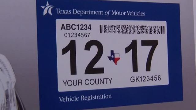Texas car registration and inspection sticker 12