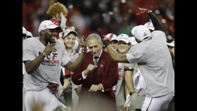 Super Bowl latest highlight for Falcons owner Arthur Blank