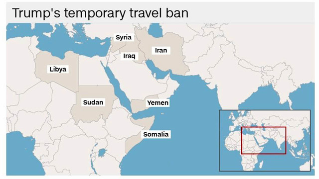 Ban Remains Sticking Point In Trump Calls With US Allies - Us allies map