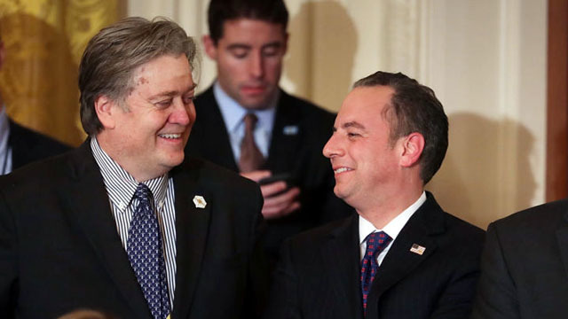 Steve Bannon 'livid' with Breitbart over Priebus report