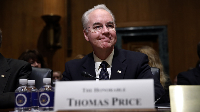 HHS Sec. Tom Price Blowing Tens of Thousands on Private Jet Travel