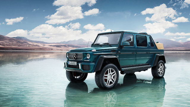 Crush cars in Mercedes' ultra-lux monster truck