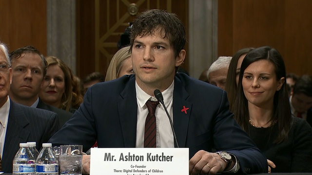 Ashton Kutcher testifies before Senate committee