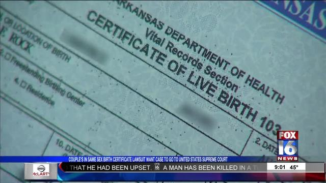 SCOTUS Review Sought for AR Same Sex Birth Certificate Case -