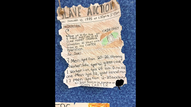 School apologizes for 'slave auction' posters