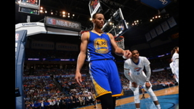 Curry gets in shoving match with Thunder