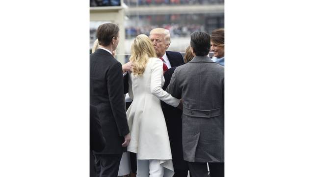 Donald Trump kisses daughter Ivanka at swearing in66732247