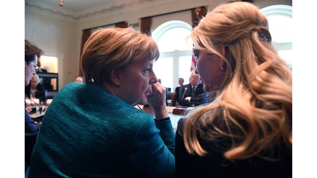 Ivanka, German Chancellor Angela Merkel and President Donald Trump Meet in Washington99204164