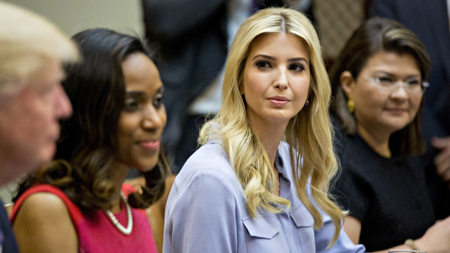 Ivanka Trump, Donald with women small business owners March 201704513580