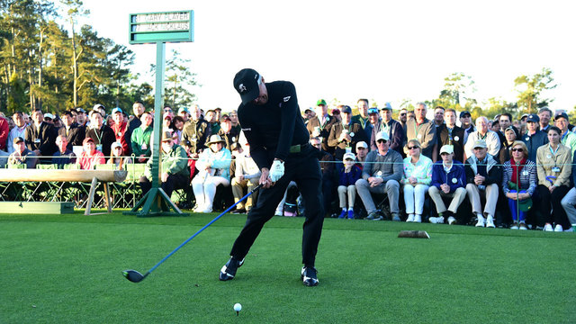 Gary Player's ceremonial tee off at 2017 Masters39798182