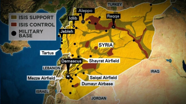 US strikes on Syria
