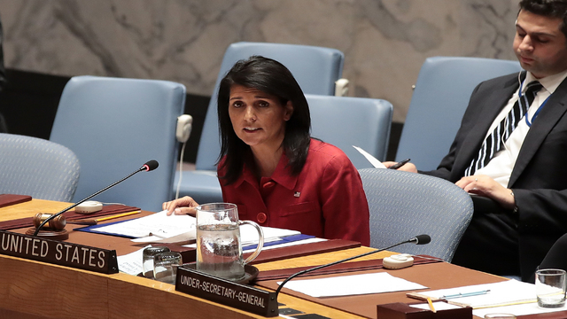 No political solution in Syria with Assad in power: Haley