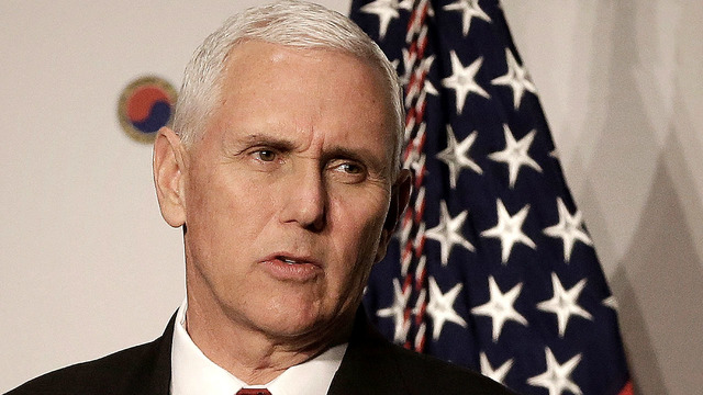 VP Mike Pence: US not seeking North Korea negotiations