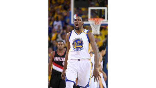 Durant optimistic of playing in Warriors' Game 3 at Portland