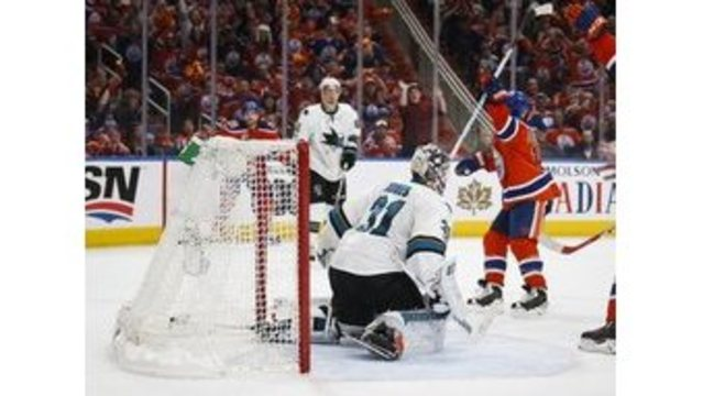 Oilers top Sharks in OT to grab 3-2 lead