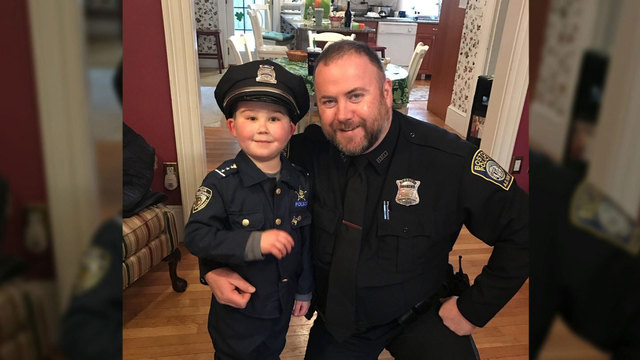 Massachusetts police rally around boy battling cancer