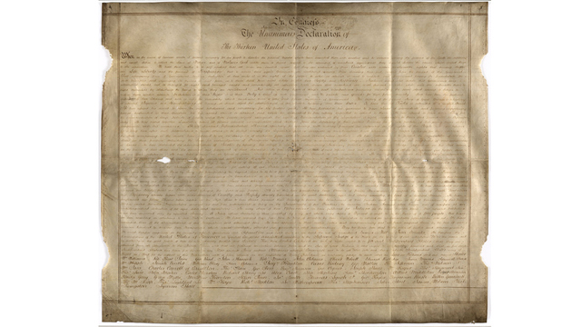 Harvard Researchers Find Copy of Declaration of Independence