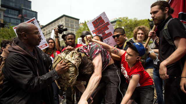May Day New York Protests counter protester.jpg25945095