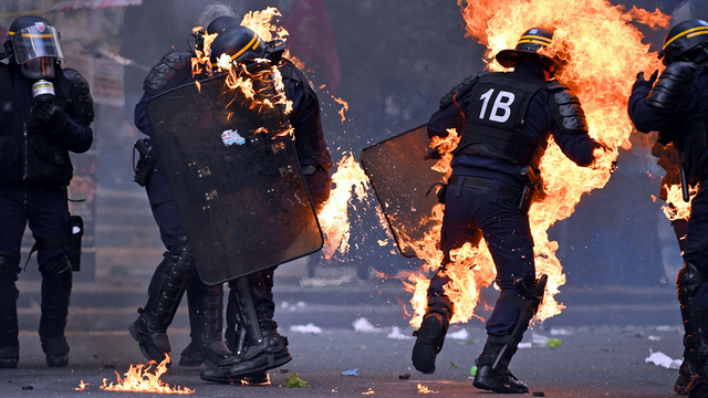May Day Paris Protest Police on Fire.jpg52836939