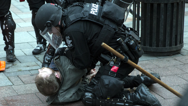 May Day Seattle protester arrested.jpg50053456