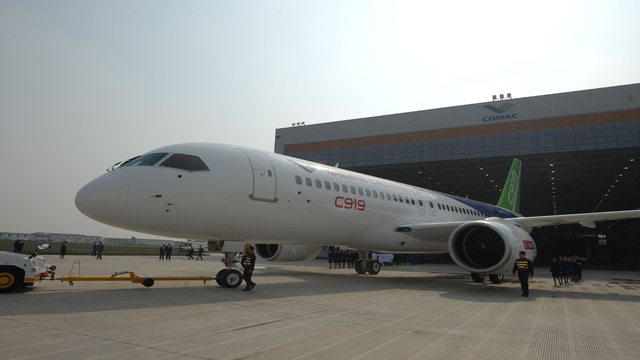 China launches first large, homemade passenger jet