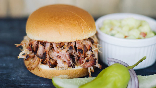 Billy Sims Barbecue pulled pork sandwich48618735