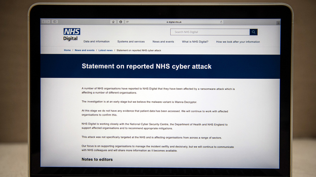 Ransomware cyber-attack a wake-up call