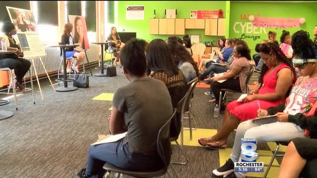 High School Seniors hear life lessons at women's empowerment capstone project