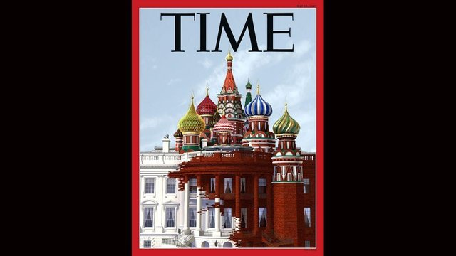 Time's latest cover depicts Kremlin takeover of White House