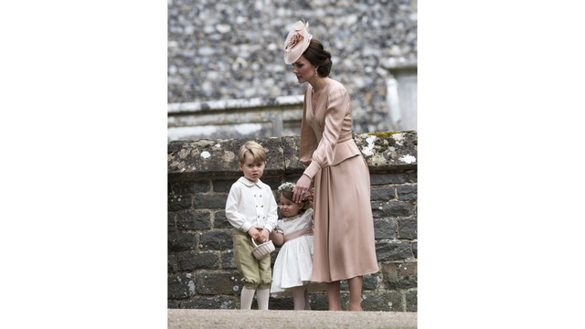 Catherine Kate duchess of cambridge, Prince George, Prince Charlotte, Pippa wedding79507613