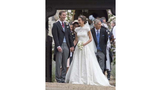Pippa Middleton with new husband at wedding68337466