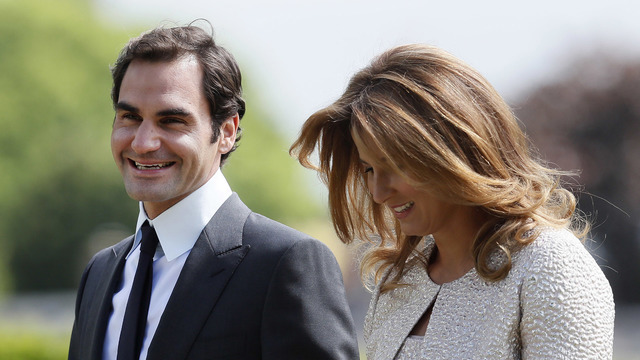 Roger Federer with his wife Mirka at Pippa wedding39801972