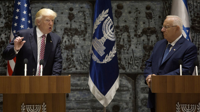 Donald Trump with Israel's President Reuven Rivlin83401845