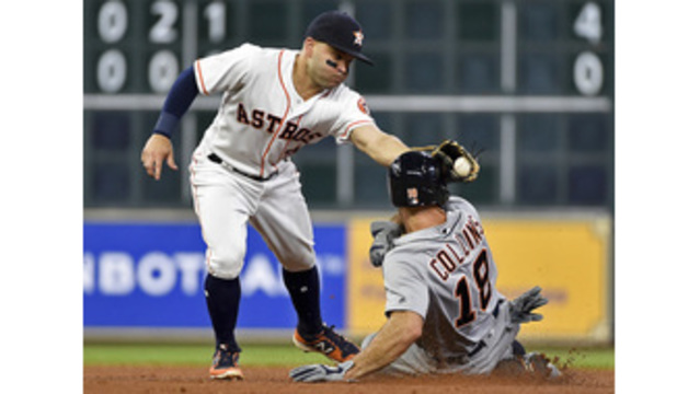 Peacock, Astros one-hit Tigers in shutout win