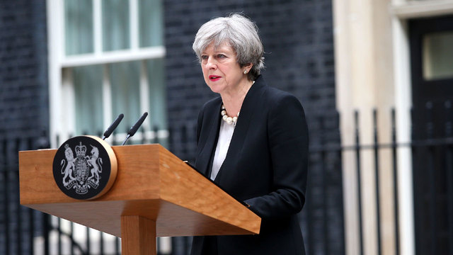 Theresa May speaks about Manchester attack01837877