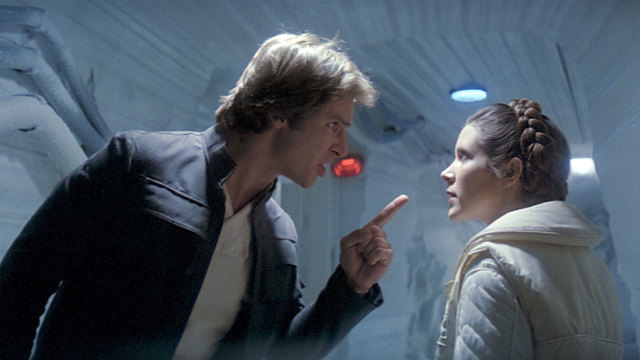 Harrison Ford and Carrie Fisher in Empire Strikes Back48823223