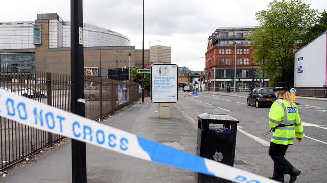 UK police in bomb probe cordon off area in Manchester