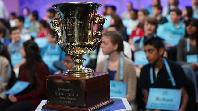 Scripps National Spelling Bee trophy at 2017 competition77205628