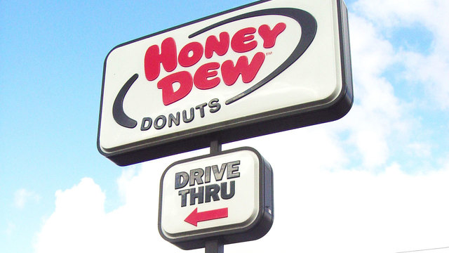 Honey Dew Donuts sign22295213