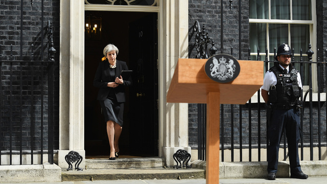 Theresa May, British prime minister at presser after London attack67461368