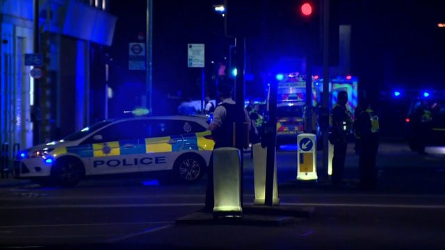police in aftermath of London attack23987637